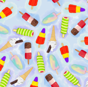 Watercolour Ice Lollies