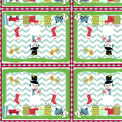 Frosty Holiday Quilt Medium