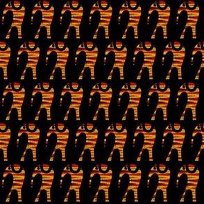 Dancing Elephants Batik Orange Red
