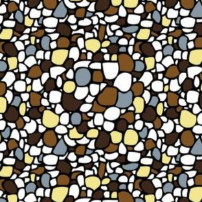 Colored Pebbles in Earth Colors