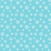 Snowflakes white on blue