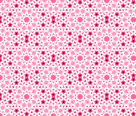 decagon stars : rosy pink