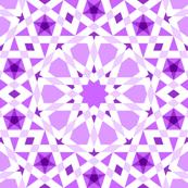 decagon stars : violet magenta