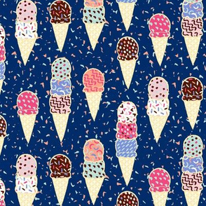 Confetti Ice Cream - navy