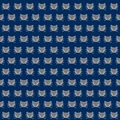Tiny gray cat on navy, small