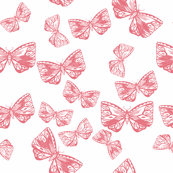 Moth in Coral Pink