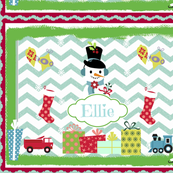 Frosty Holiday Quilt LG-personalzied