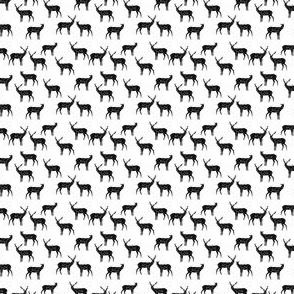 Deer - White and Black (Tiny Version) by Andrea Lauren