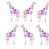 Bright Floral Giraffe