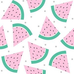 Pastel Watermelon with Grey confetti