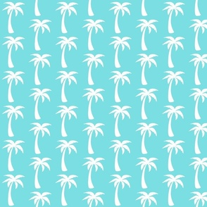 aqua palms- soft cyan smaller
