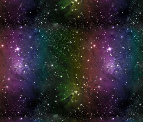 Rainbow galaxy nebula fabric fabric lovelylepidoptera for Nebula material