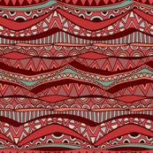 Vintage Wavy Tribal Ornament