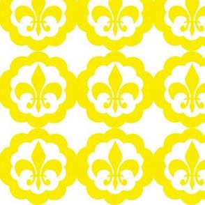 Fleur de lis yellow