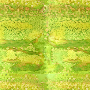 Yellow green paint effect