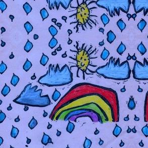 Blue Rainbow Sky