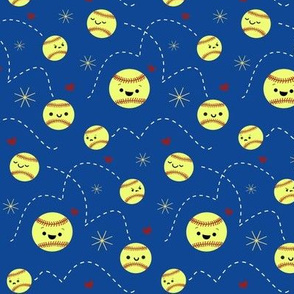 Happy Softball All Stars - Blue
