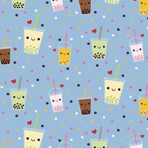 Happy Boba Bubble Tea - Blue