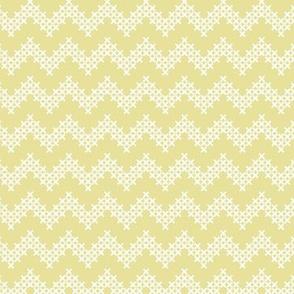 Sir Oswald Cross Stitch Chevron in Yellow