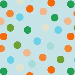 Paler beach polka dots