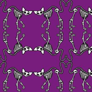 SphynxieBonez Prancing Heart Tail Flipped in Purple