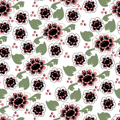 Black, Green, and Pink Delft 2