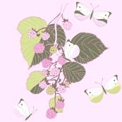 Butterflies & Berries - Pink