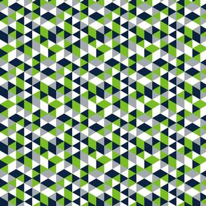Geometric Seahawk Triangle (Small Print)