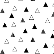 Cheeky Triangles - Black on White