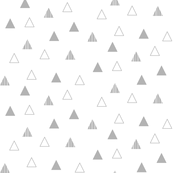 Cheeky Triangles - Gray on White
