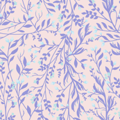 Tangled, Lilac on Pale Pink