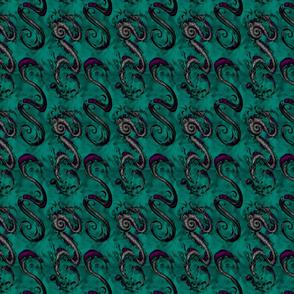 NIB Snakes and Dragons (Smokey Background 2) Smalllscale