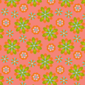 flying floral orange