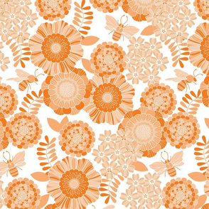 bee garden tonal orange