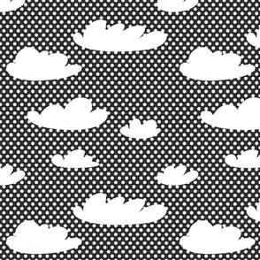 Clouds Pop Art by Friztin