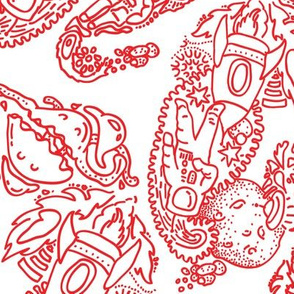 Paisley -  Cosmic Paisley Red