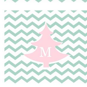 chevron pink tree LG - personalized