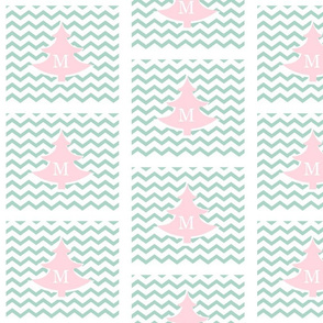 chevron pink tree MED - personalized