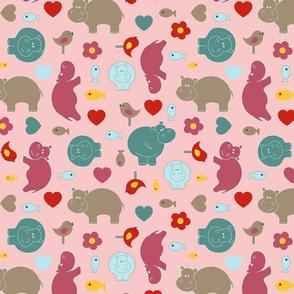 Hippo Birdie Main rosy