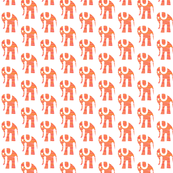 Orange Elephants on White