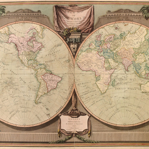 Vintage World Map c.1808