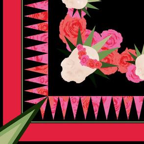 Tropical Graveyard Roses Scarf