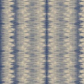 TURN90 90° blue rags ikat