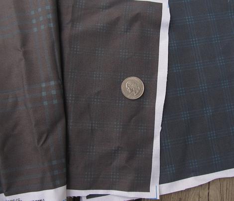 "1"" charcoal-navy jacket tartan"