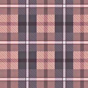 gingham plaid - iolite and rose quartz
