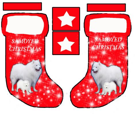 Samoyed Christmas stocking