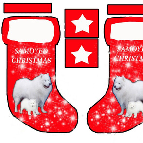 Samoyed Christmas stocking