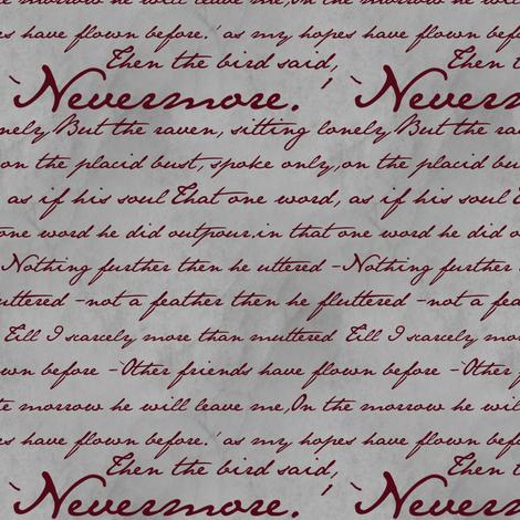 Nevermore in Blood Red ~ Edgar Allan Poe ~ Medium