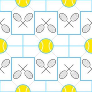 tshirt 2x tennis ball racquet