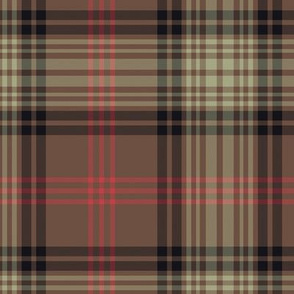 Gingerbread tartan - full size